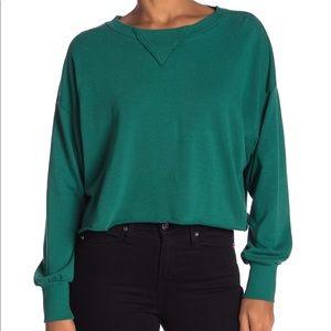 Wildfox True Love Solid Sweatshirt Woodfall Green